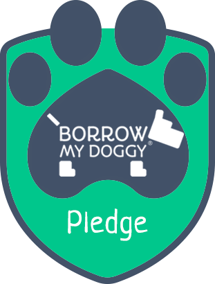 BorrowMyDoggy Pledge Badge
