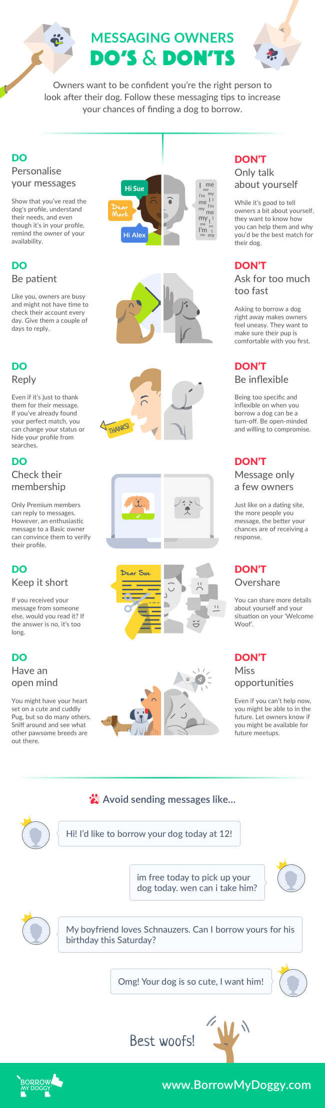 Messaging Owners Do's and Don'ts