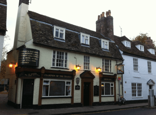 champion of the thames, a dog friendly pub in cambridge