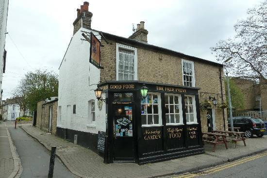 the free press pub, a dog friendly pub in cambridge