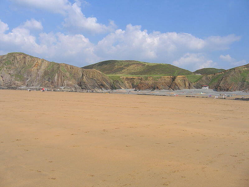 Sandymouth Beach, a dog friendly beach in Cornwall
